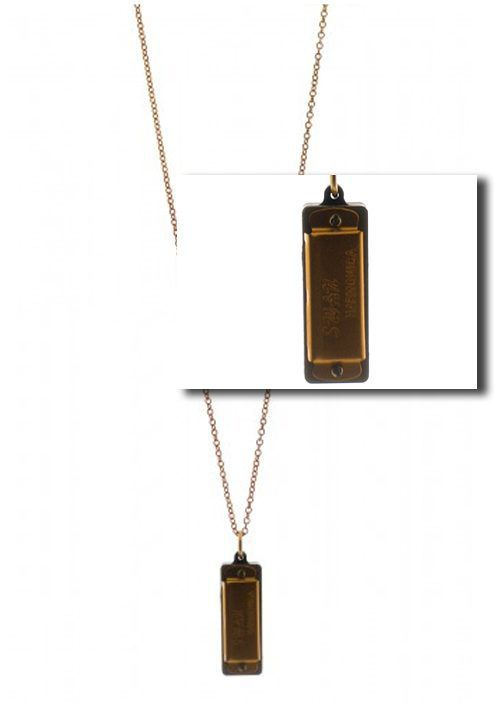 The Harmonica Vintage Pendant Necklace is available at Rock 'N Rose, too!