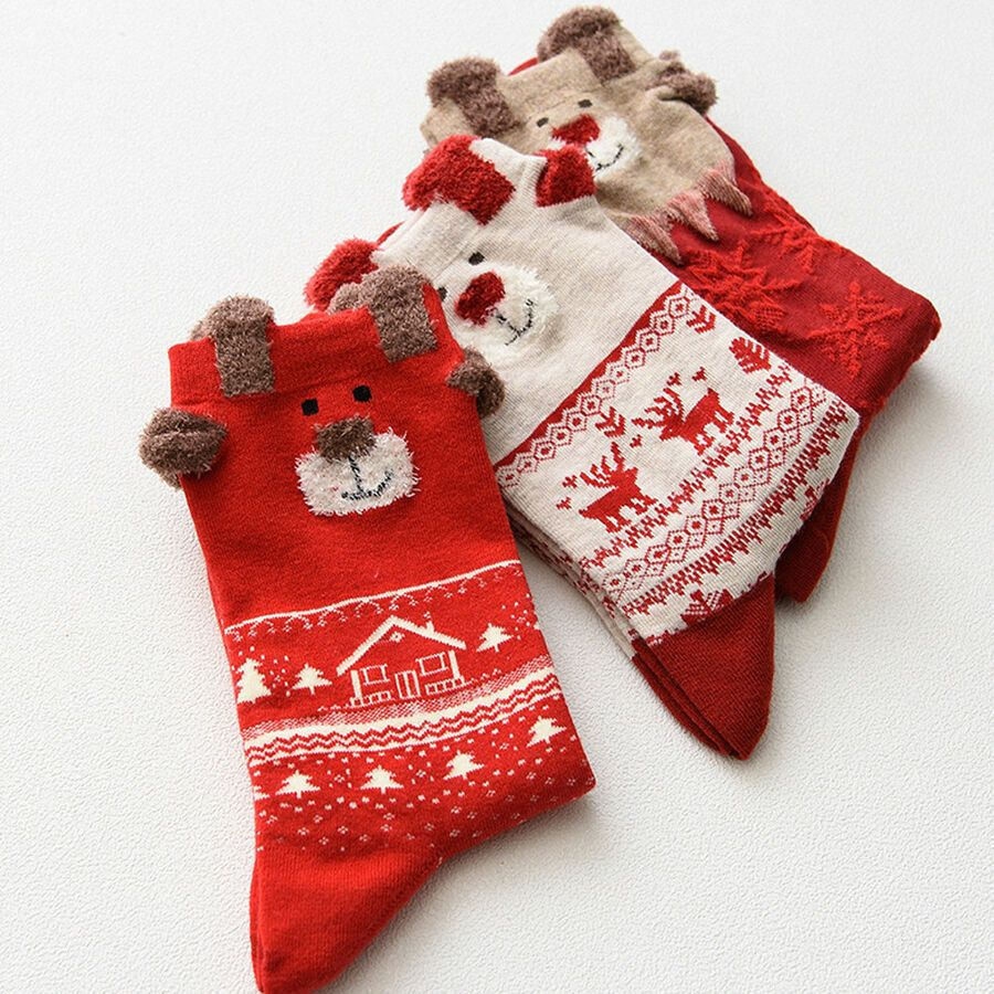 Socks Cartoon Snow Personalized Womens Stocking Party Sock Clearance For Girls