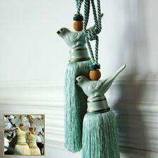 Large Luxury Vintage Ceramics Bird Curtain Rope Tie Back Silk
