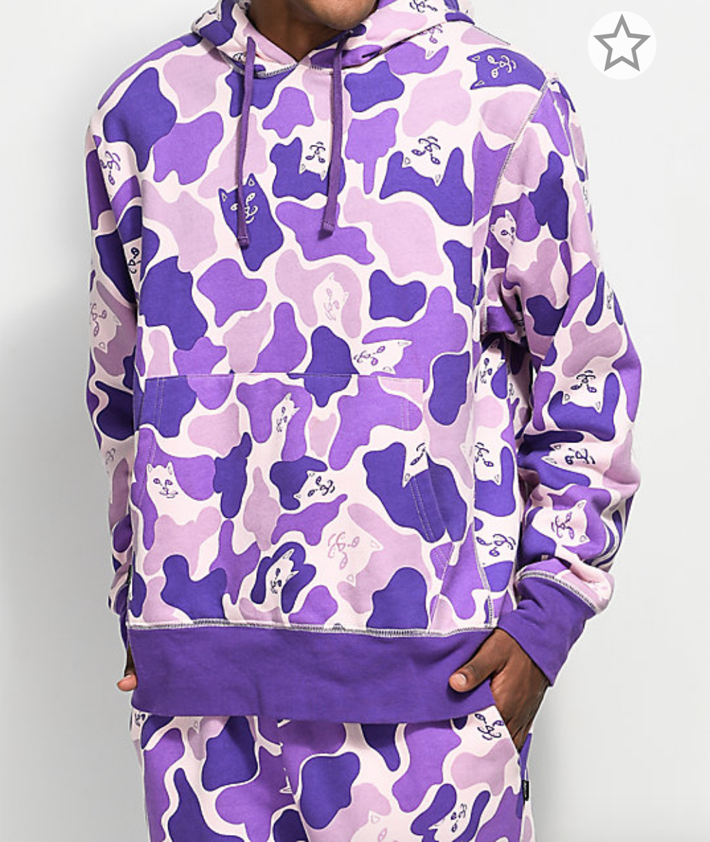 88cce1bd803b RIPNDIP Invisible Purple Camo Hoodie in 2019