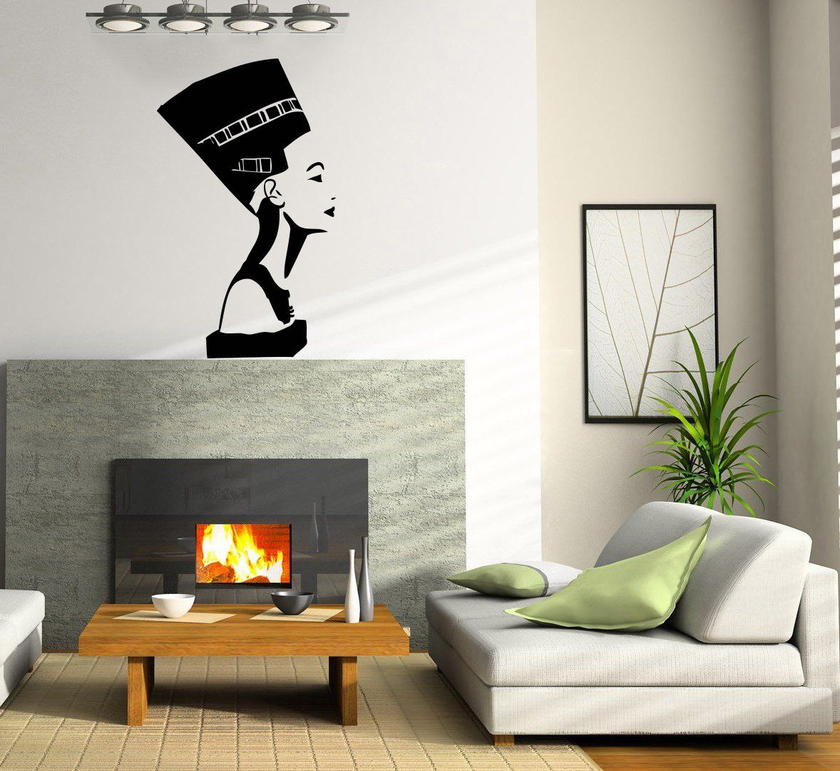 Egyptian Symbol Nefertiti Wall Vinyl Decal Art Sticker Home Modern ...