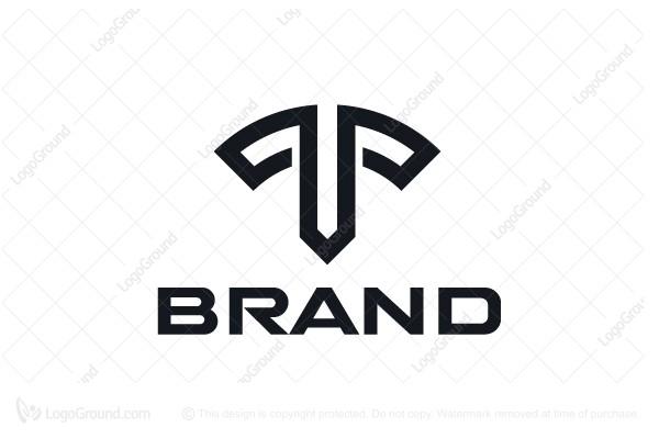 Masculine Letter T Logo Letter T Lettering Luxury Logo