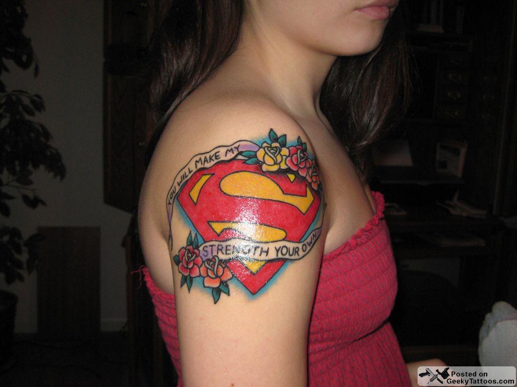 Cartoon tattoo designs on shoulder - Superman Tattoo Tattoomodels Tattoo