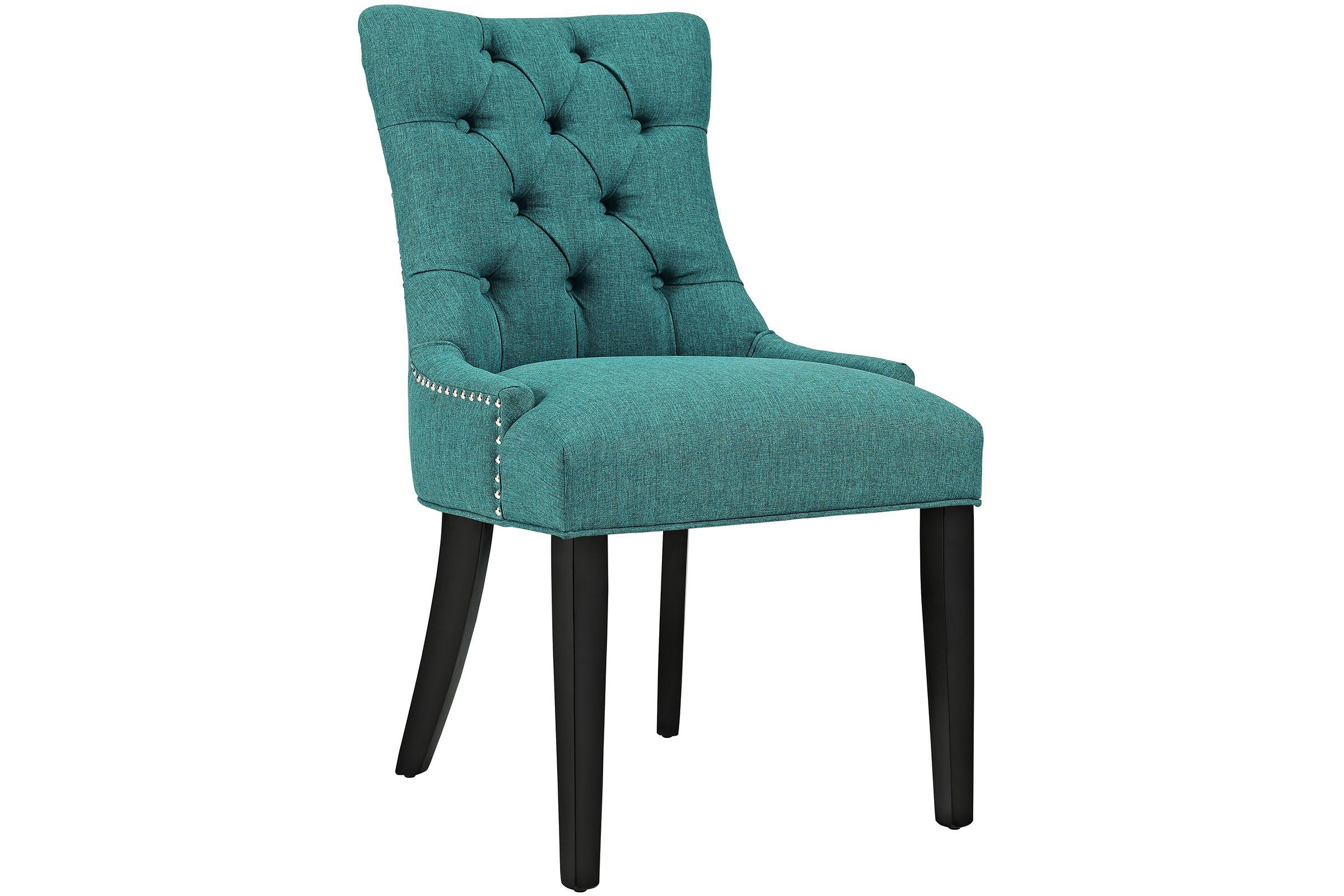 Regent Upholstered Dining Chair In Teal By Modway Chaises