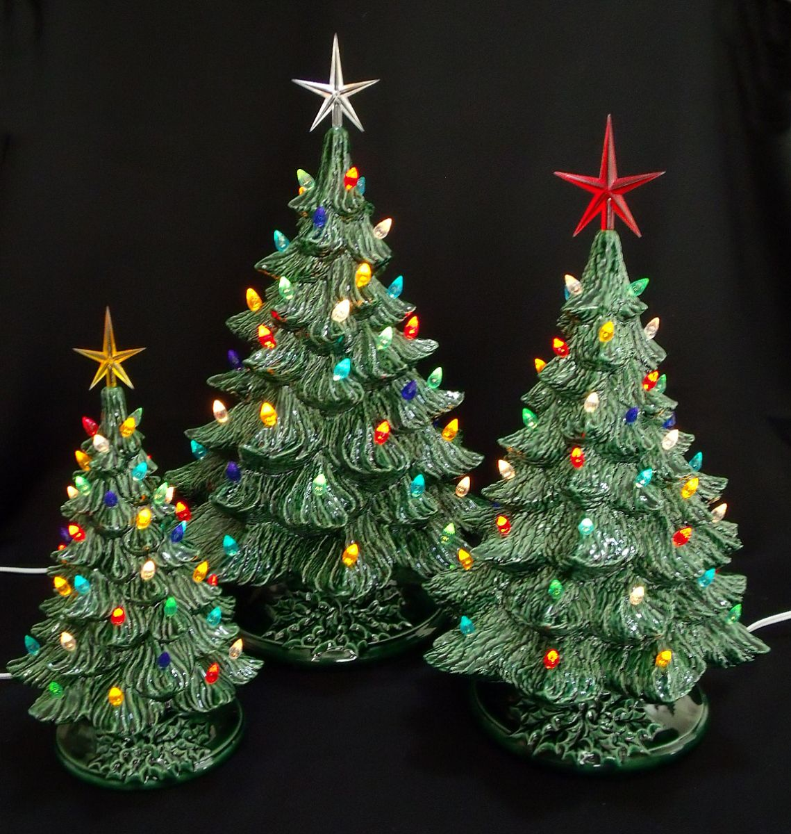 Ceramic christmas ornaments - I Have Two Friends Who Have This Kind Of Old Fashioned Ceramic Christmas Tree