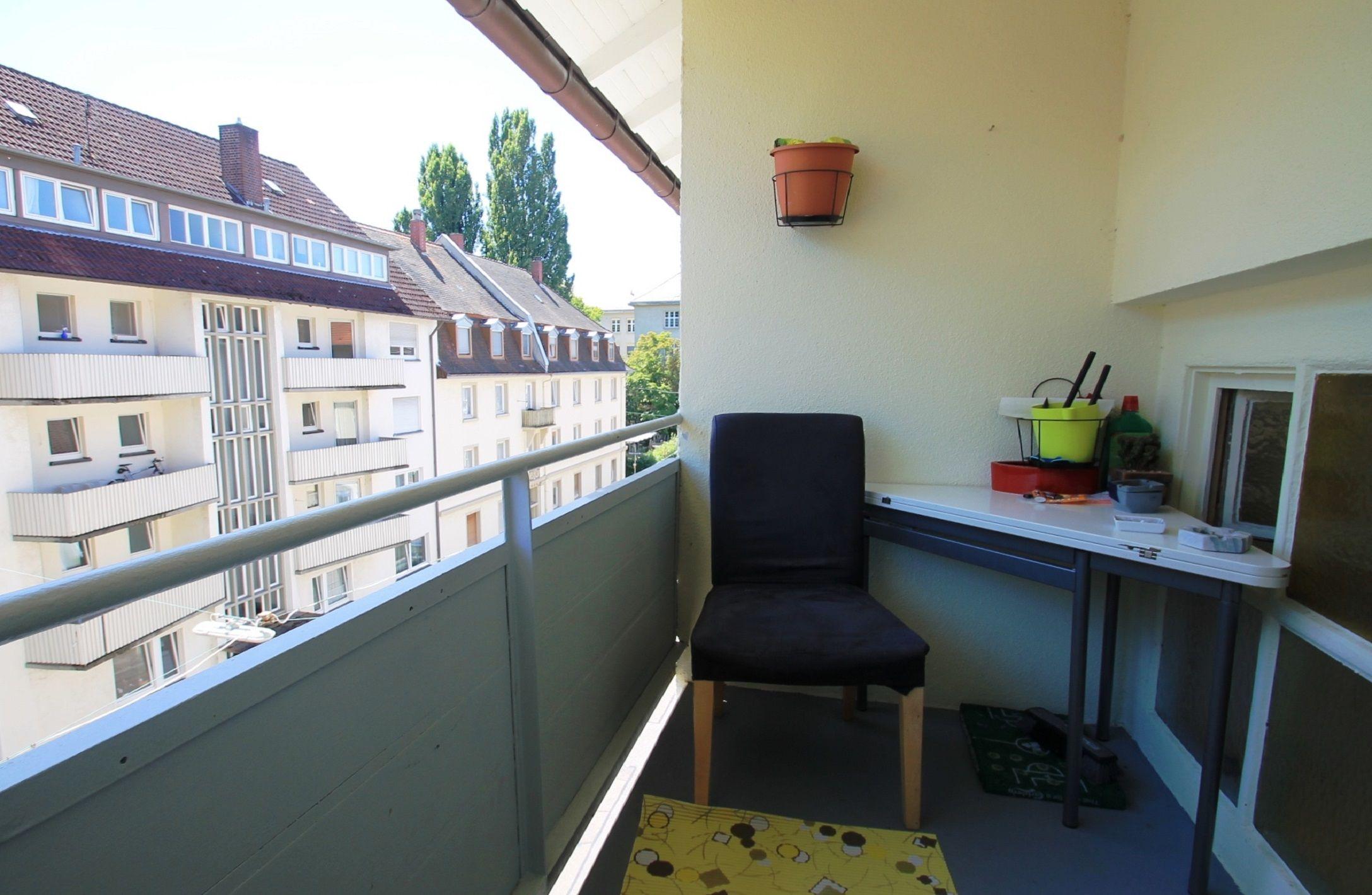4,5-Zimmer-Wohnung in der Karlsruher Oststadt: Loggia