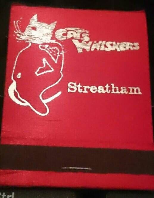 Cats Whiskers. Streatham. London. 1969 Advertising