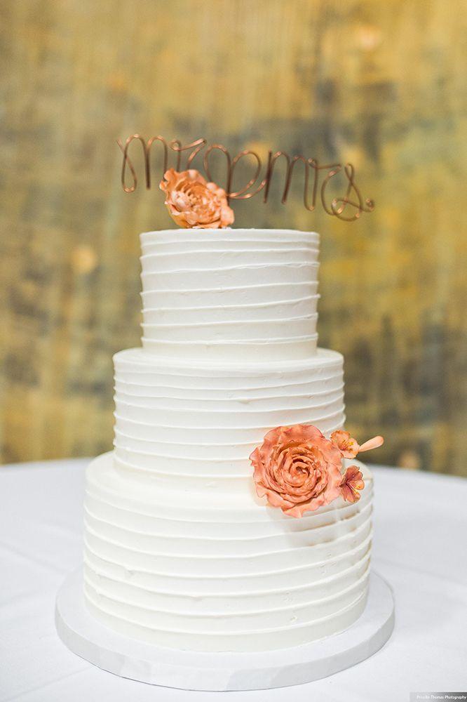 DeClare Cakes   Wedding Cakes   Charleston South Carolina   Natural Luxe  Ribbon Texture Wedding Cake