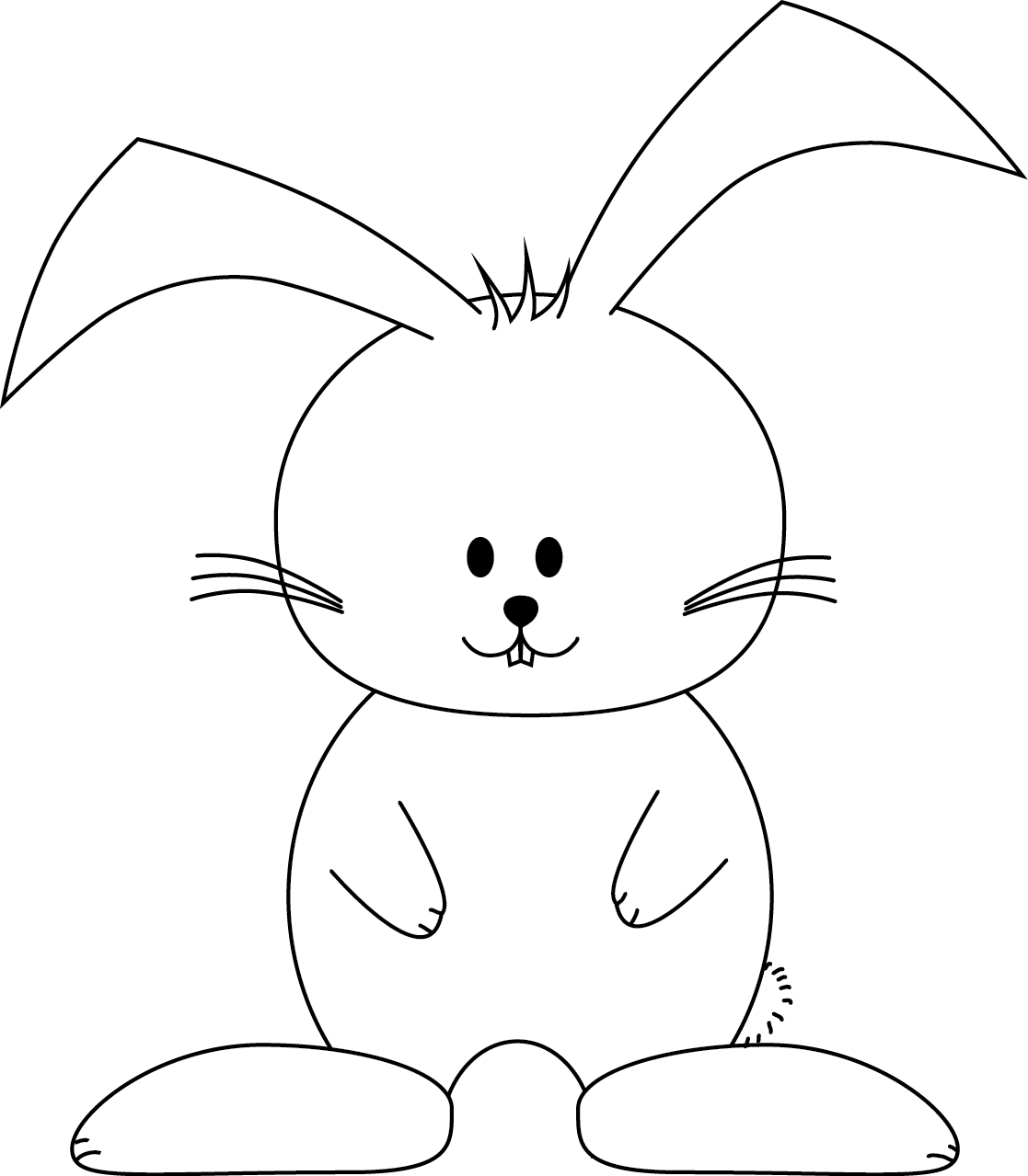 Easter bunny templates the image kid for Easter picture templates