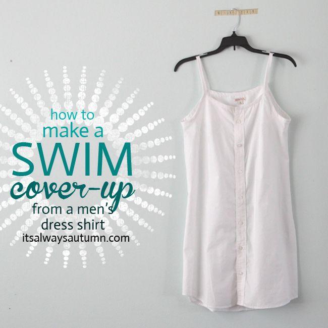 6e4b4e4f52 DIY swim suit cover up {from a men's dress shirt} - itsalwaysautumn - it's  always autumn