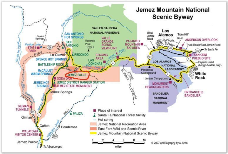 Travel File Exploring Jemez Springs New Mexico Explore: Map Of New Mexico Campgrounds At Usa Maps