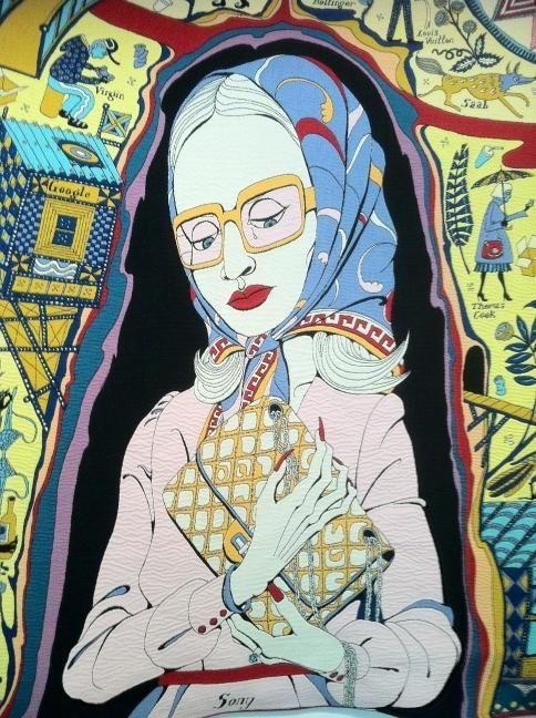 Grayson Perry 'The Walthamstow Tapestry'. #fiberarts #british #britishartists #softsculpture