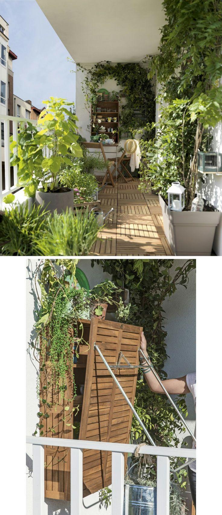 aménager une petite terrasse sans l'encombrer | balkon verschönern