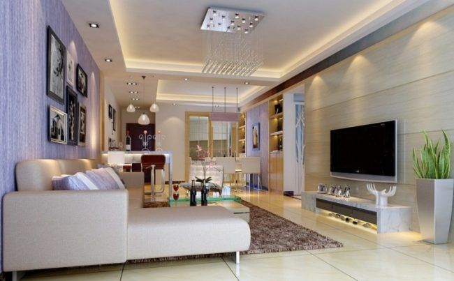 indirekte-led-beleuchtung-wohnzimmer-decke-kueche Pinnwand - design beleuchtung im wohnzimmer