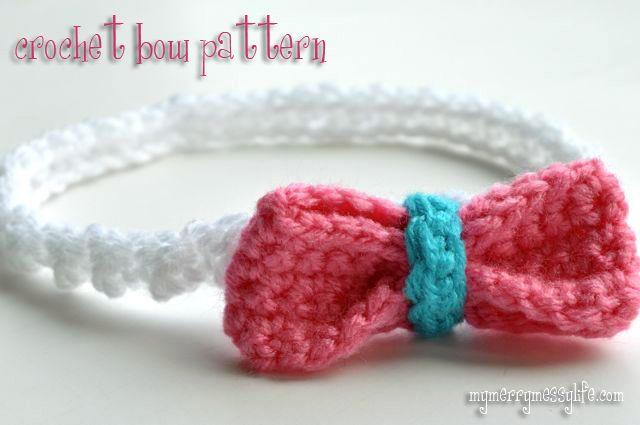 Easy Crochet Bow Pattern - Free Crochet Pattern | Tejido, Moños y Banda
