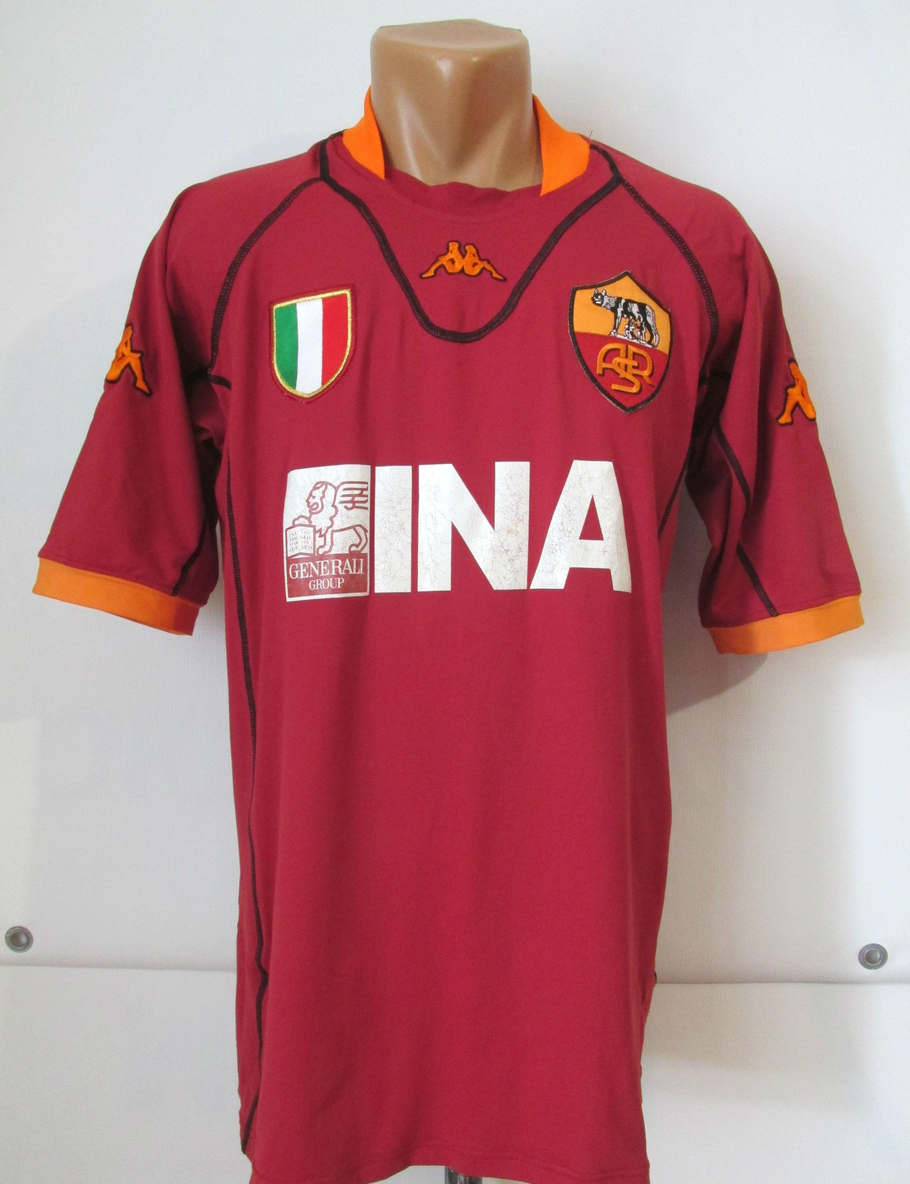 f8c724acce AS Roma 2001/2002 home football shirt by Kappa ASR calcio Italy SerieA soccer  jersey vintage giallorossi Rome #roma #asroma #kappa #calcio #asr  #giallorossi ...