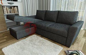 Stanford L Shape Corner Sofa Bed With Lift Up Underneath Storage