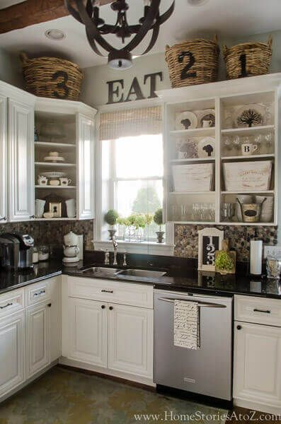 Decorating Above Kitchen Cabinets, Decorating On Top Of Your Kitchen Cabinets