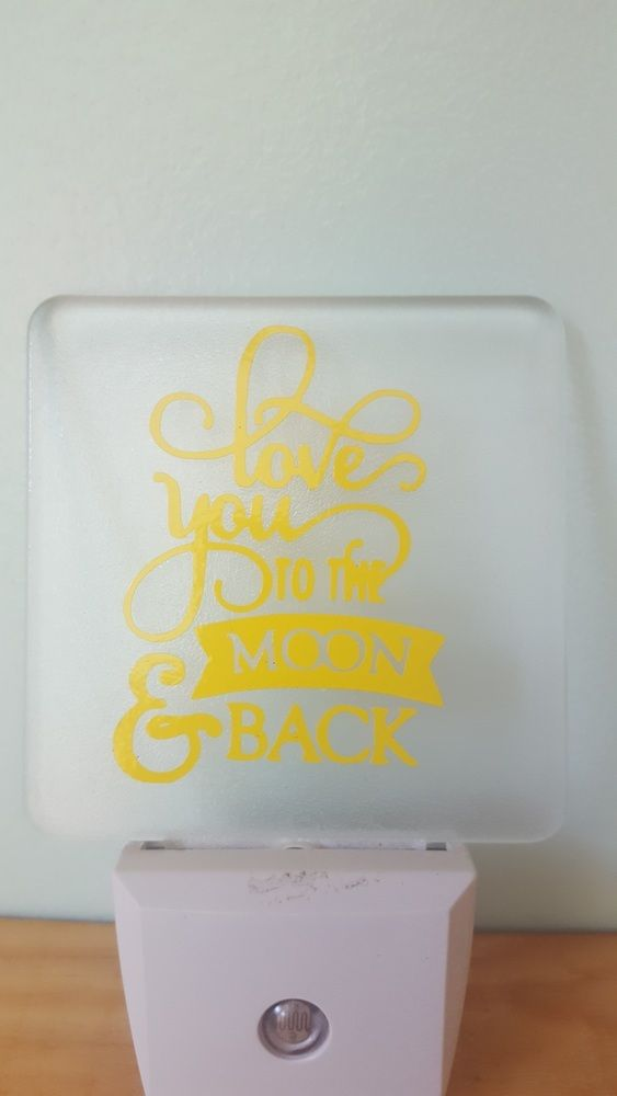 I love you to the moon and back Nightlight, C$11.95