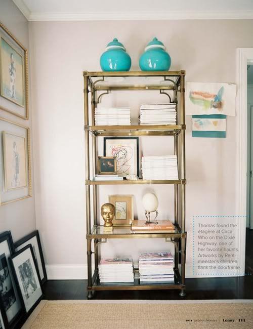 Little Green Notebook: Brass Etagere IKEA Hack