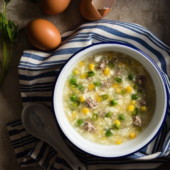 Traditional Egg Drop Soup - The ultimate comfort food you can easily create at home.