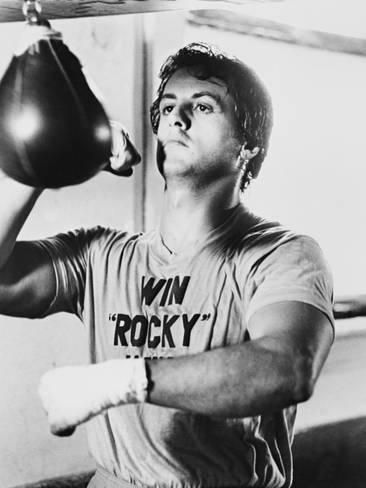 Photographic Print: Sylvester Stallone, Rocky, 197
