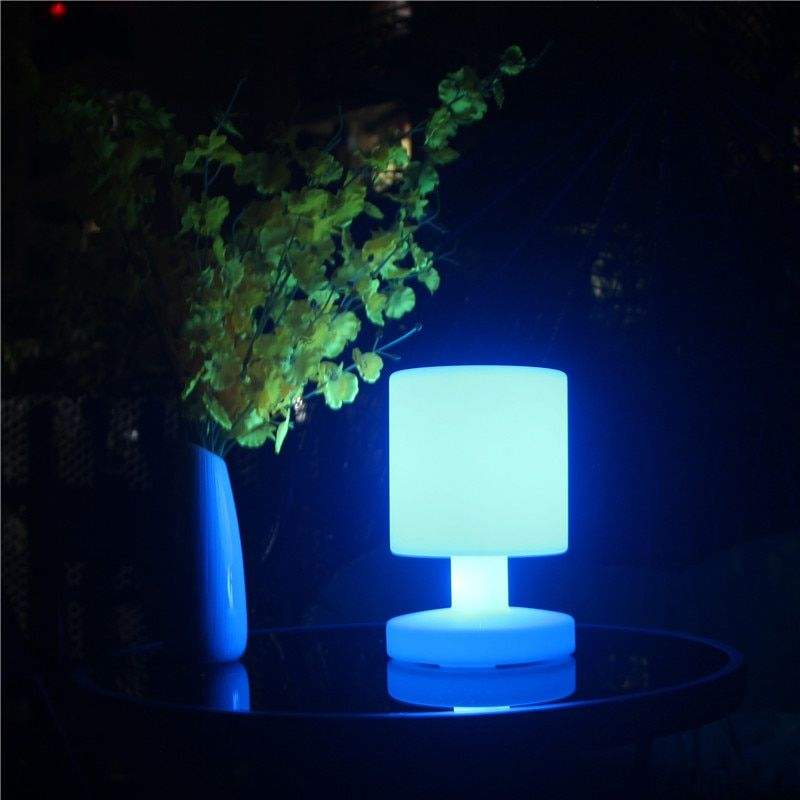 D170mm H255mm Led Table Lamps 16 Colour Changing Rechargeable Lights With 24 Keys Remote Control For Bar Home Furniture 1pc D1 Led Table Lamp Table Lamp Lamp