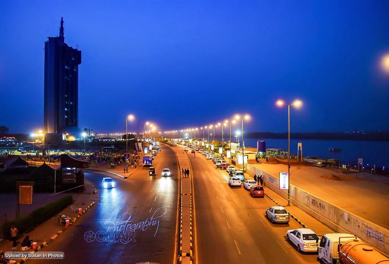 Nile Street At Night Khartoum شارع النيل ليلا الخرطوم السودان By Omar Photography Sudan Khartoum Nil Around The Worlds Photo Sudan