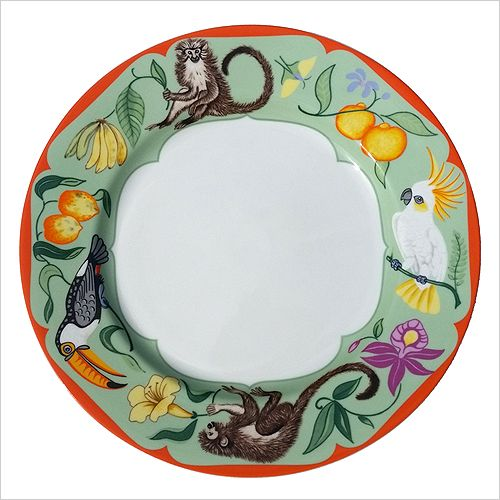 Lynn Chase Monkey Business Porcelain Dinner Plate | Discover the ...