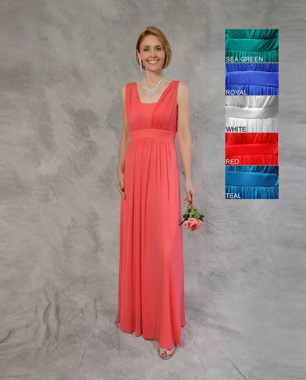 teal or coral mother of the bride beach dresses