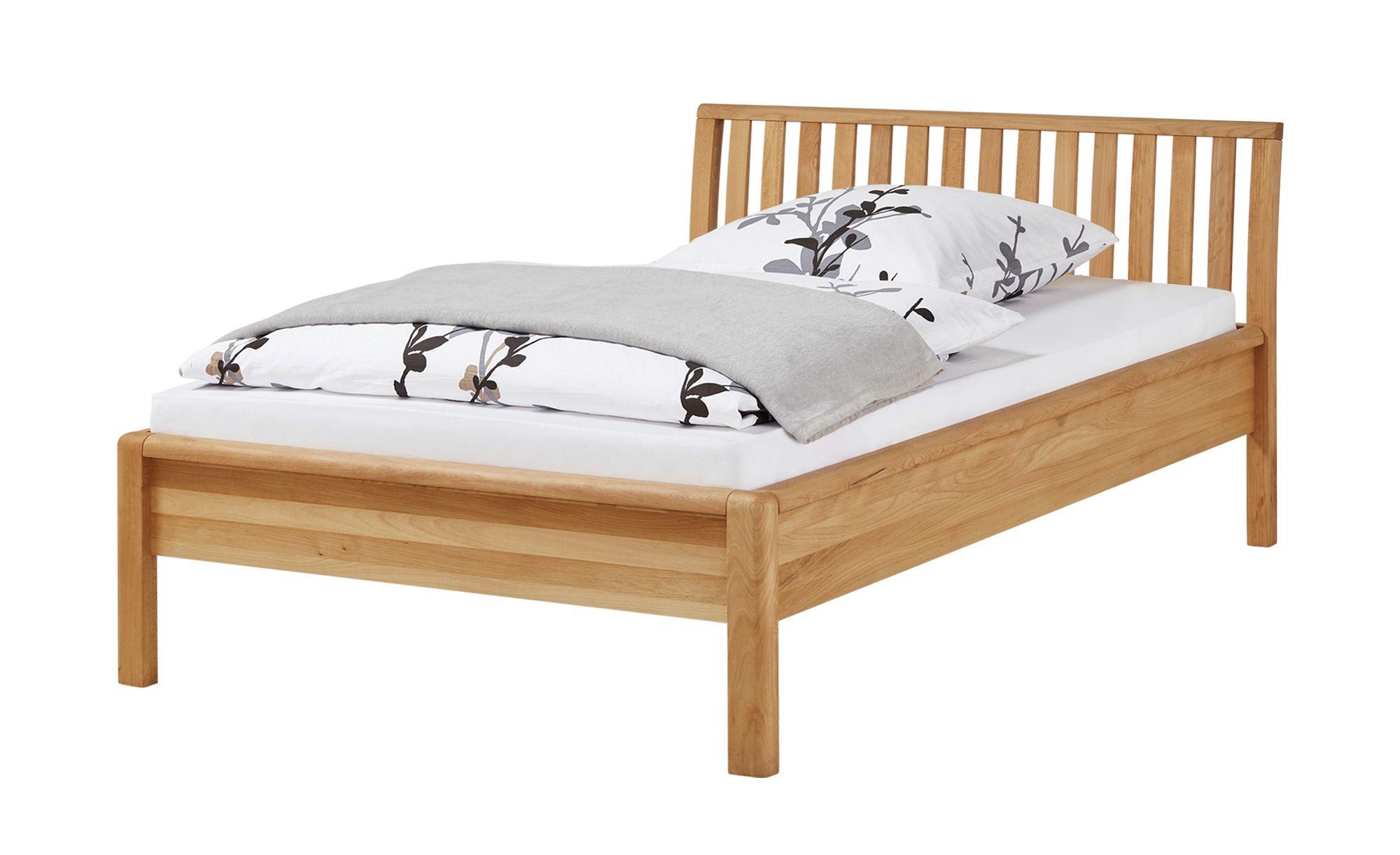 Massivholzbettgestell 140x200 Buche Alice Holzfarben Bett Und