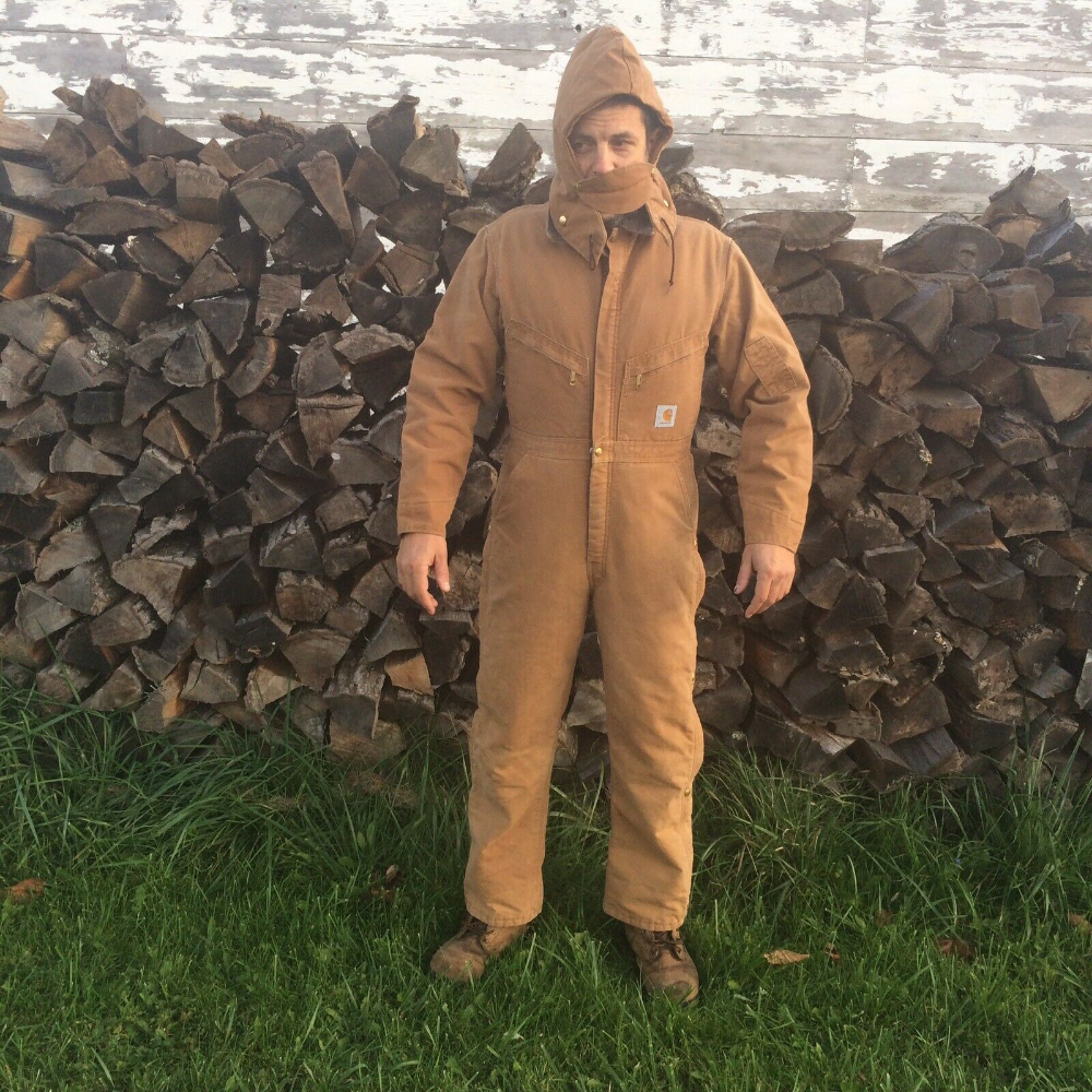 carhartt coveralls with hood quilted insulated usa duck on men s insulated coveralls with hood id=93413
