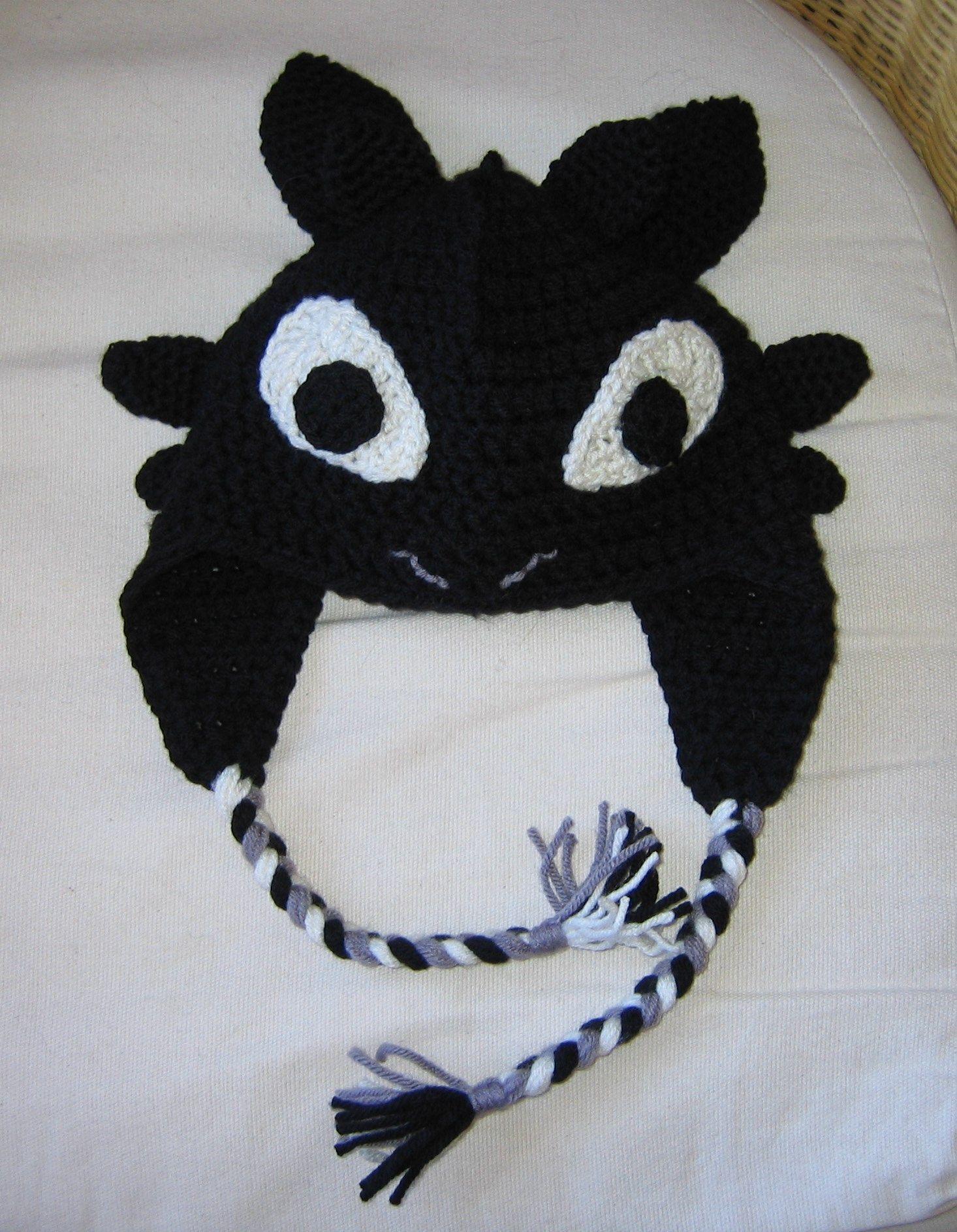 Crochet Toothless the Dragon hat | Dragon hats, Crochet ...