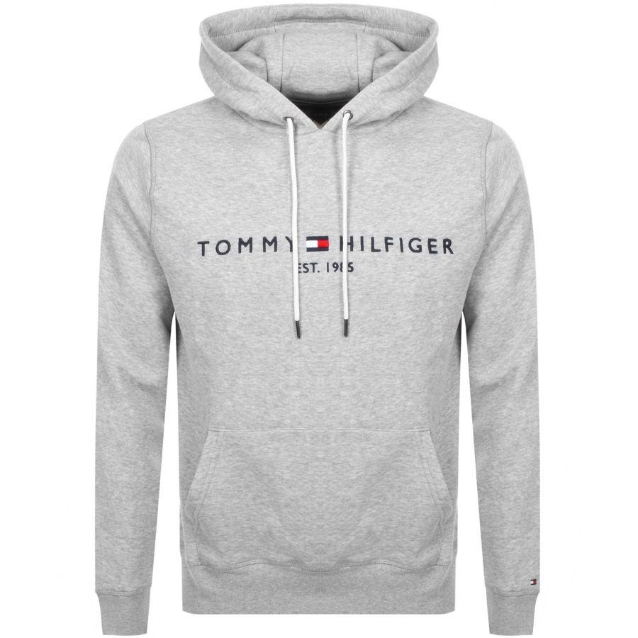 Tommy Hilfiger Logo Hoodie Grey Tommyhilfiger Cloth Hoodies Sweaters For Men Hoodie Tommy Hilfiger Sweatshirt [ 900 x 900 Pixel ]