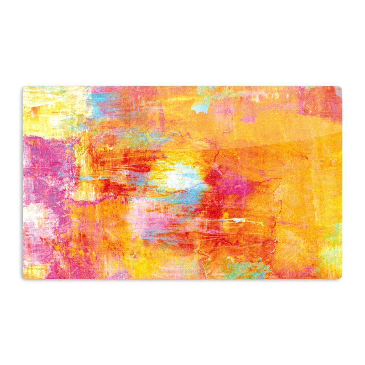 Kess InHouse Ebi Emporium 'Off The Grid' Orange Rainbow Artistic Magnet