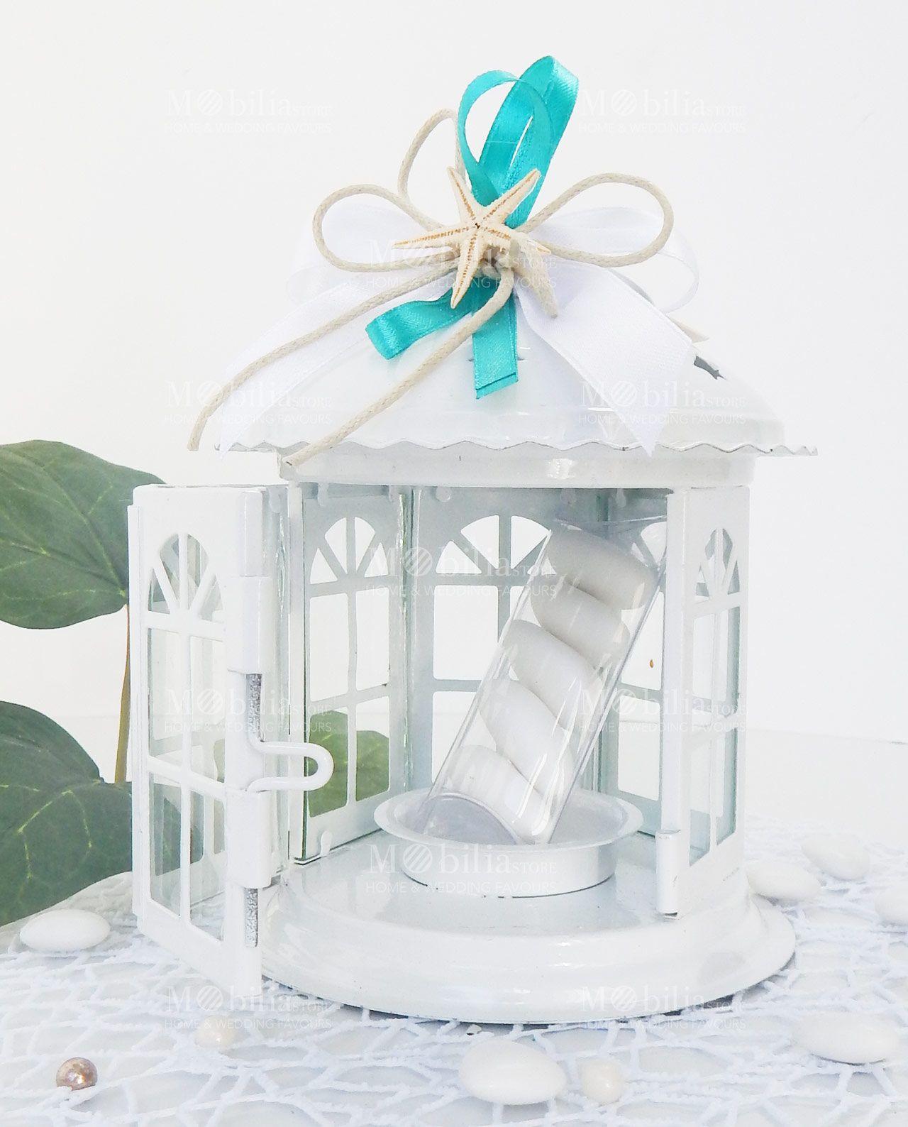 Bomboniere Matrimonio Lanterna Pagoda con Stella Marina in vetro e metallo, confezionata e ...