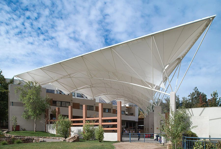 Tensoestructuras arquitectura textil cubiertas tensadas - Lonas para techos ...