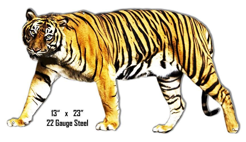 Tiger Animal Wall Art Laser Cut Out Metal Sign 13.5″x24″ | Pinterest ...