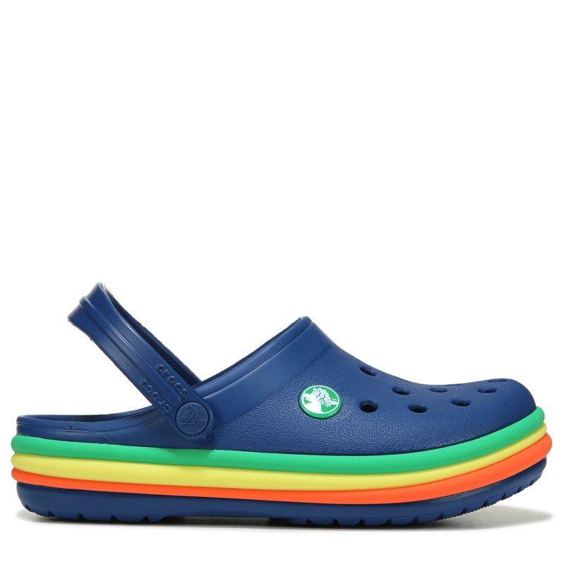 17717f66441b Crocs Kids  Crocband Rainbow Clog Toddler Preschool Shoes (Rainbow ...