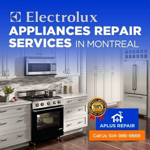 get your electrolux appliance repaired with the most capable repair service provider in