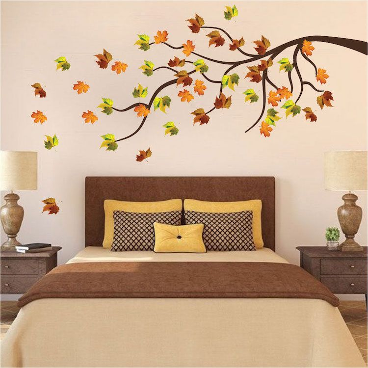 Autumn Tree Wall Decal Mural Fall Tree Decals Primedecals Wall Decals Living Room Wall Murals Bedroom Floral Wall Decals