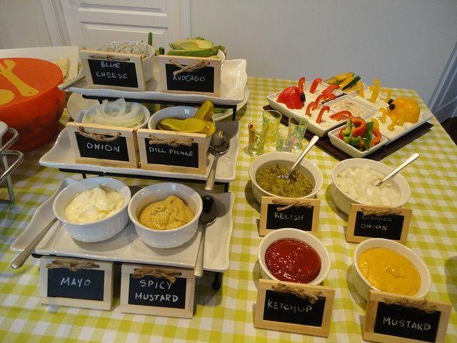 Build a burger bar google search wedding food for Food bar pinterest