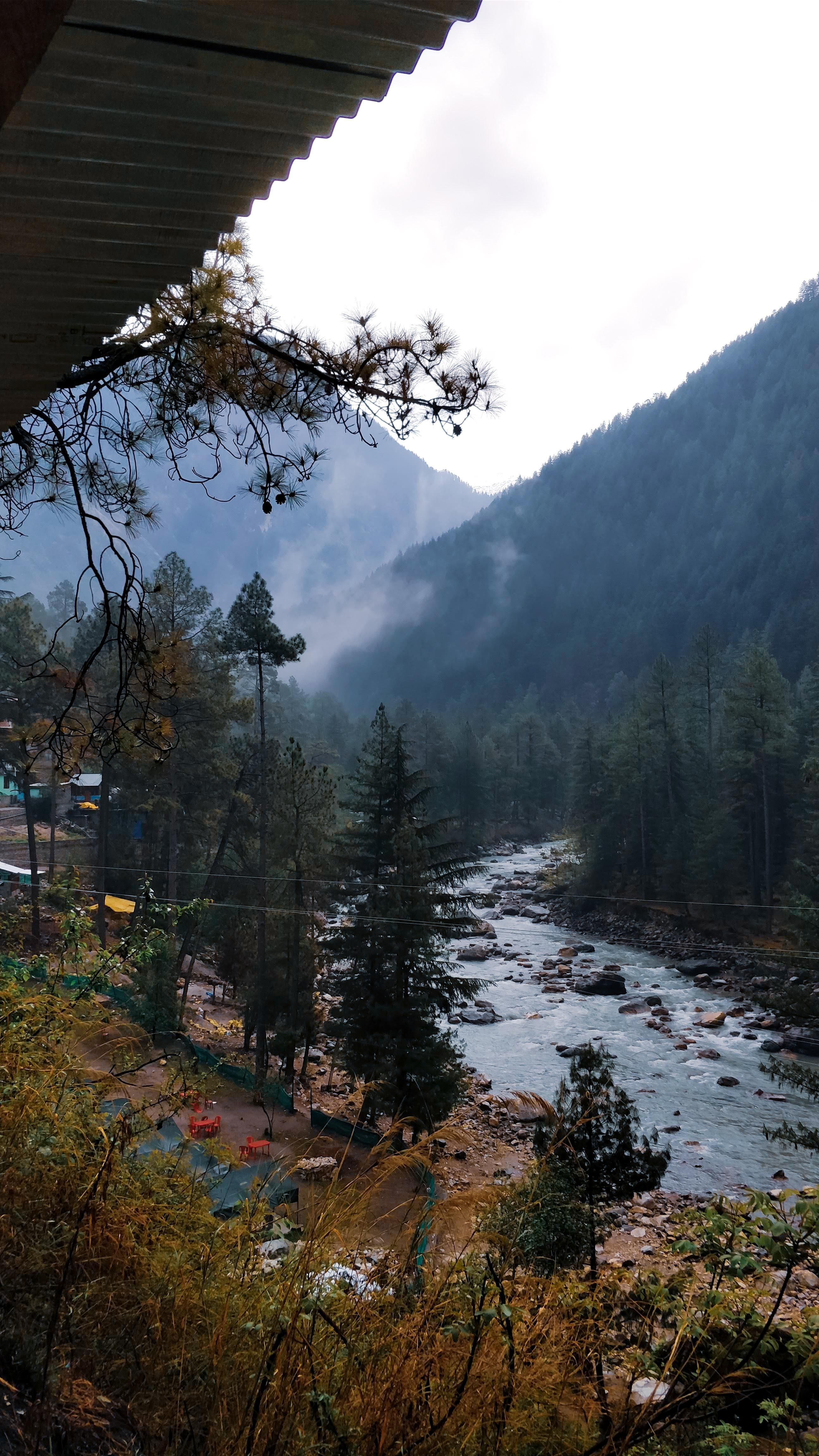 , Foggy river by the mountains. Himachal Pradesh, India. [OC] 2592×4608, My Travels Blog 2020, My Travels Blog 2020