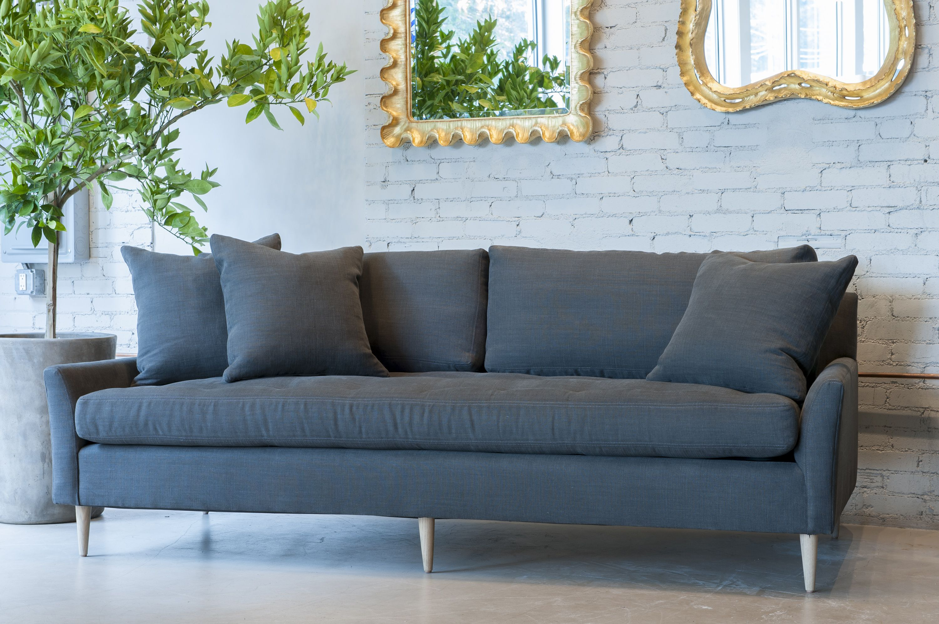 Blanche Sofa from Verellen in Lux Linen tufted seat