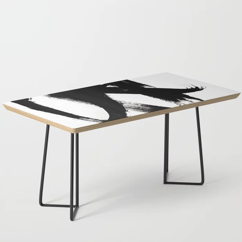 A Coffee Table Could Be Your New Favorite Piece Of Art Black And White Coffee Coffee Table White Coffee Table