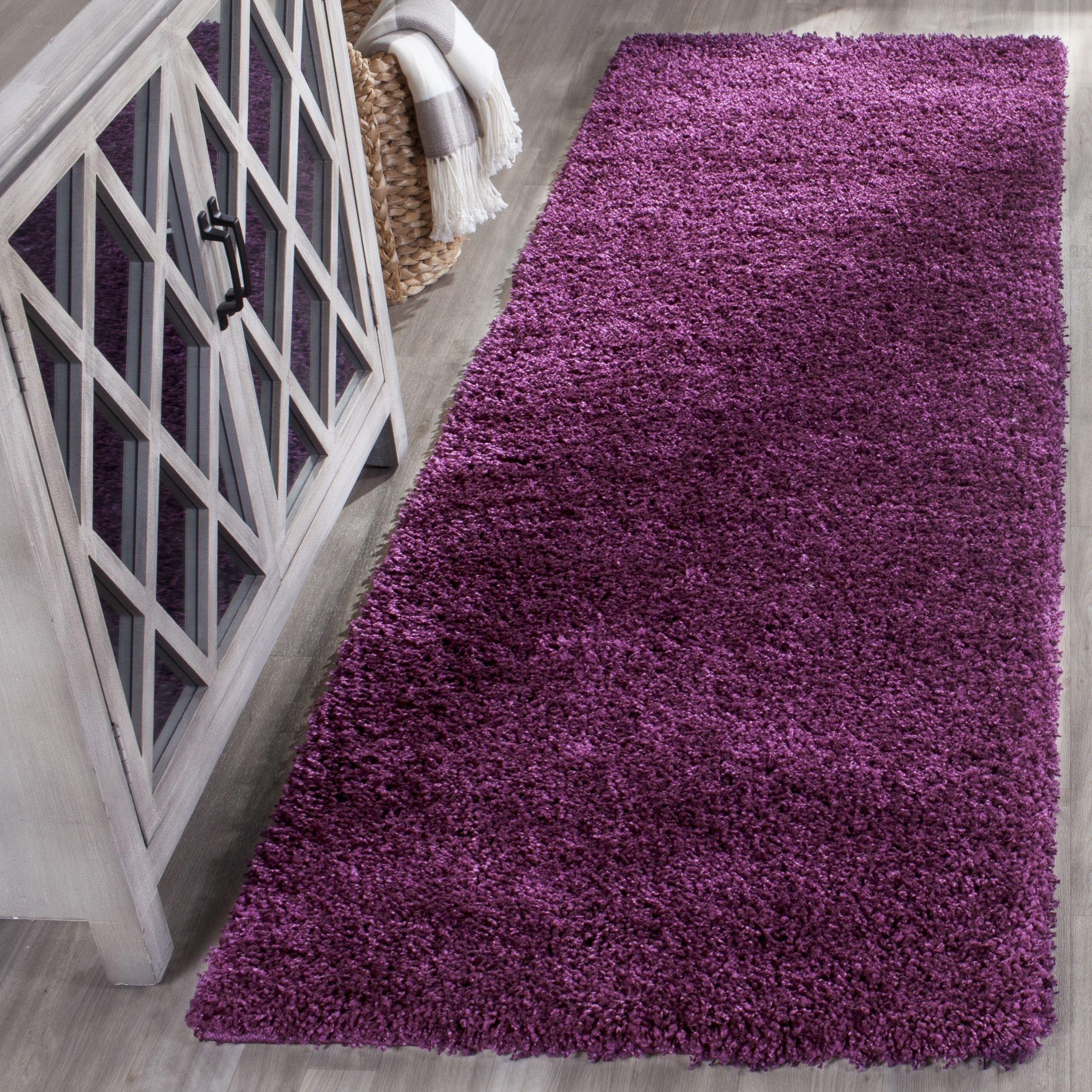 house of hampton ampthill shag purple area rug rug size runner x