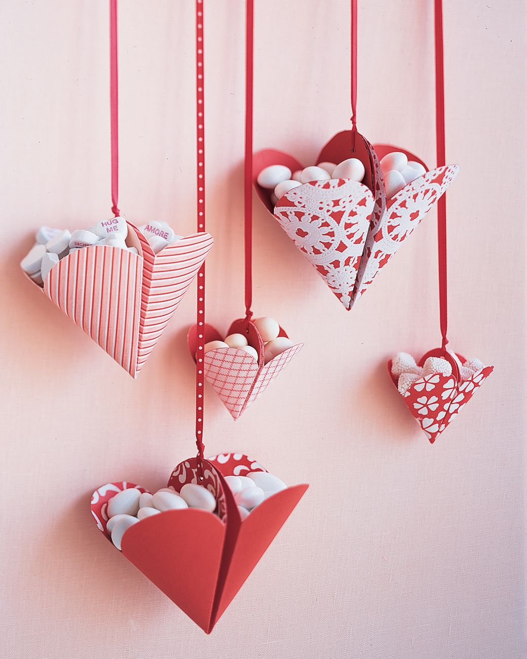 Bonbon Filled Hearts Valentine S Ideas Martha Stewart Living