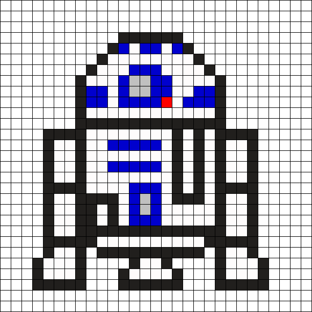 R2D2 - Star Wars Perler Bead Pattern | All Things Crochet and Knit ...