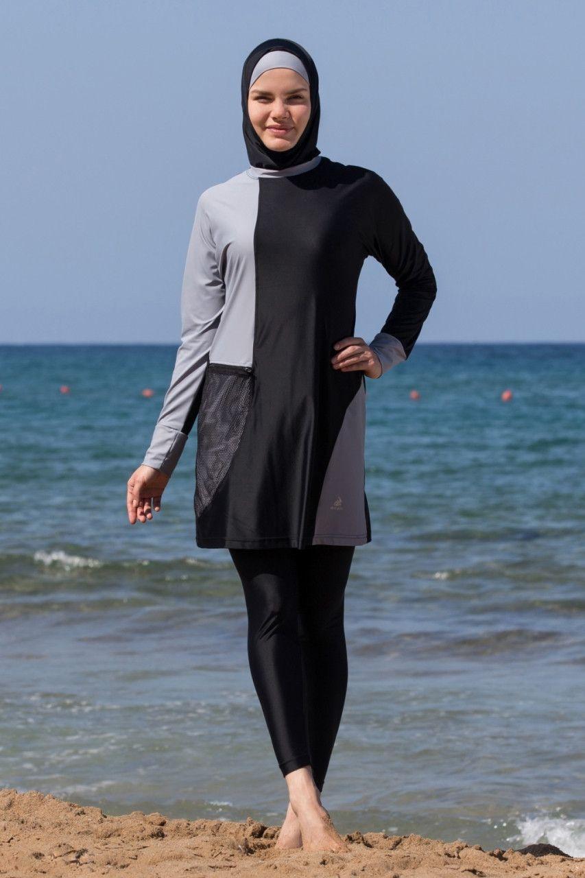 1062b5fe85bb0 Adabkini DURU Women's Swimsuit Full Cover Hijab Burkini Islamic, Hindu,  Arab, Jewish Swimwear AVAILABLE SIZES 38(S), 40(M), 42(L), 44(XL), 46(XXL)  Our high ...