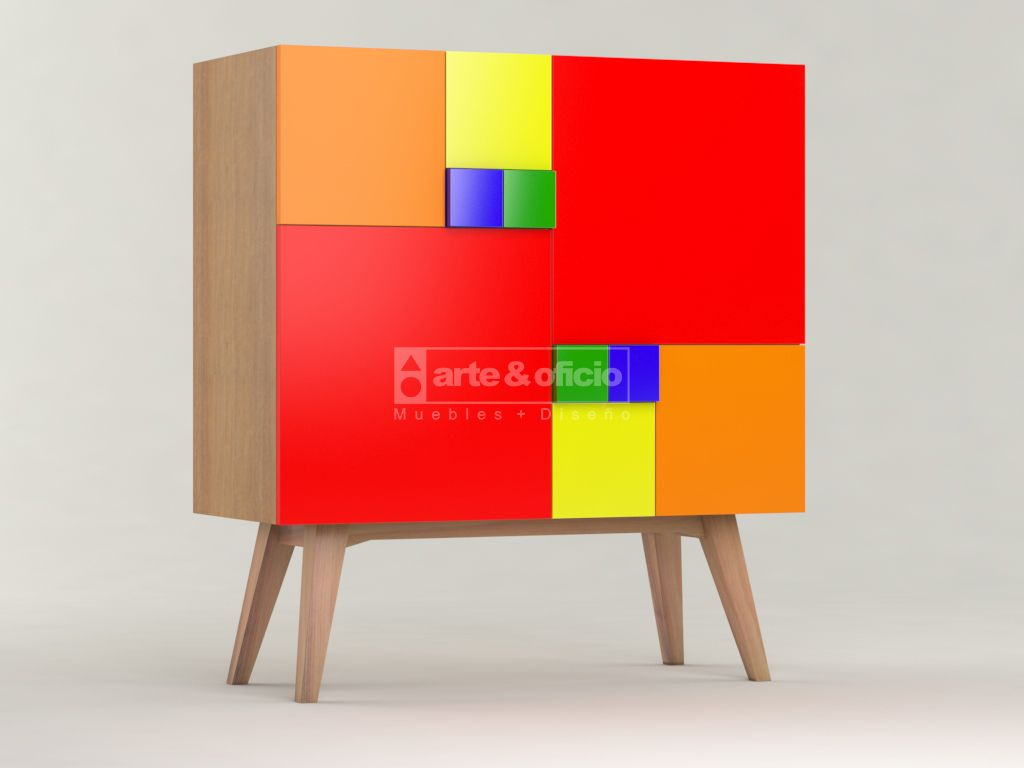 Arte & Oficio, Sutileza en el diseño y los detalles..!!! Mueble Aparador Fibonacci Colores..!!, Vista 3, (Las matemáticas como punto de partida del Diseño): Φ = (1+√5) /2 Showroom Arte & Oficio: Olazabal 4710 | Villa Urquiza | CABA.- Coordinar Cita Previa llamando al 15-4097-6325 http://arteyoficio.com.ar/aparador_fibonacci.htm